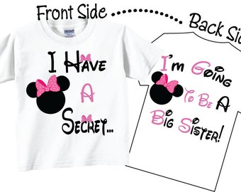 I'm Going To be A Big Sister Shirts Cute Pink Bows Tees