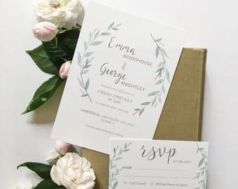 Emma (Printable) Wedding Invitation Suite