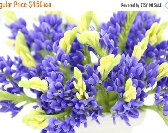 Miniature Blue Bonnet Polymer Clay Flowers Supplies 3 bunches