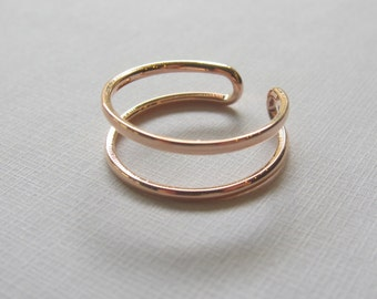 Double Ring - Rose Gold Filled