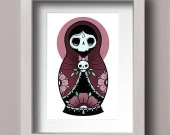 Dark Russian Doll Print