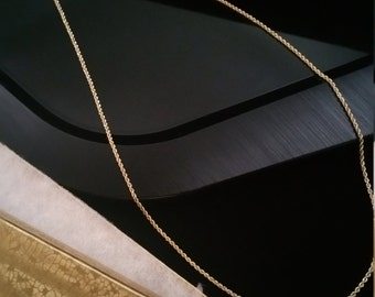 14 k gold rope chain necklace, Charm necklace