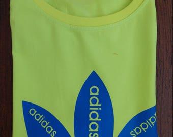 Neon Lime Adidas Cotton/Spandex Tee (M)