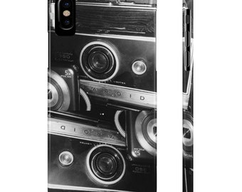 Vintage Camera Phone Case Mate Slim- Cute Phone Cases- Tumblr Aesthetic- Teens- Camera Lovers- Black and White- OMNC942