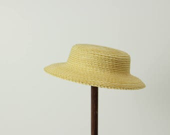 """Premium straw doll hat, XL size, DIY sailor hat for Blythe and other dolls, for head circumference 10-11.5"""""""