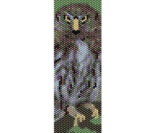 Owl Odd Count Single Drop Peyote Cuff/Bracelet Pattern