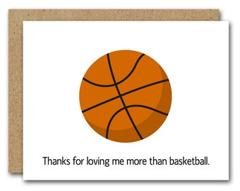 Funny Love Card, INSTANT DOWNLOAD, Boyfriend Card, Husband Card, Friend Card, Basketball Card, Love Card, Couple Card, Relationship Card