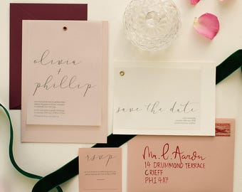 Modern Calligraphy Wedding Suite 'My Dear'
