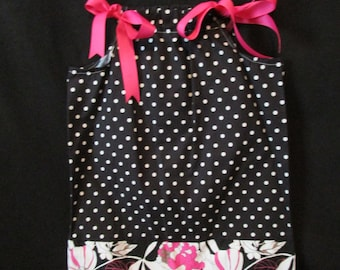 Flowers, and Polka Dots Pillow Case Dress