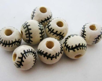 20  Baseball Beads (small)