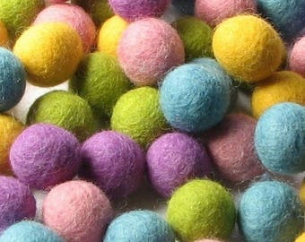 Collection - 60PC Piece SPRING Felt Balls