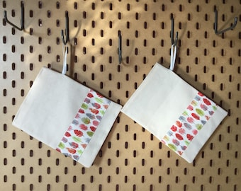 Set of 2 food storage bags-sacs a vrac-easter treat bags-eco friendly zero waste