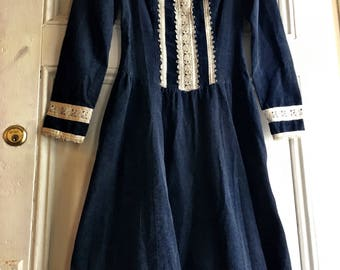 Gunne Sax Dress/Prairie Dress/ 70s Dress