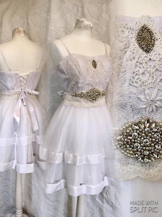 Tüll-Kleid Brautkleid Vintage-inspirierte Brautkleid.