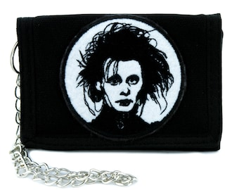 Edward Scissorhands Tri-fold Wallet Gothic Clothing Johnny Depp Tim Burton - YDS-EMPA-029-WALLET