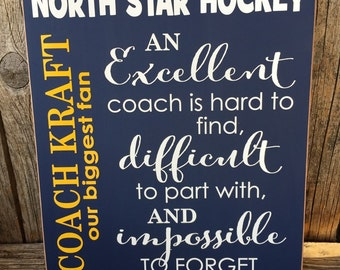 thank you coach, an excellent coach, gifts for coach, coaches gift, coach gift, coaches gift hockey, coaches gift soccer, thank you gifts,