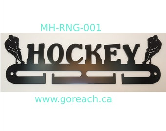 Hockey Medal Hanger 12 gauge steel semi gloss black with mounting hardware