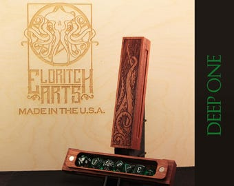 Dice Box - Deep One - RPG, Dungeons and Dragons, D&D, DnD, Pathfinder, Table Top Role Playing and Gaming Accessories by Eldritch Arts