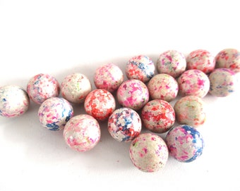 Set of 20 Antique Mottled Clay Marbles, Antique marbles. #70CG4AK1
