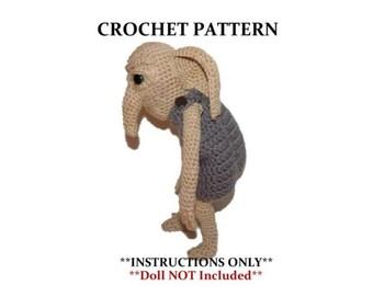 House Elf  Crochet Pattern Kreaker the Ancient Doll NOT Included