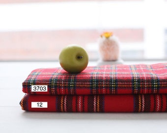 Scotland Check Acrylic Fabric - Two Types - By the Yard 84553