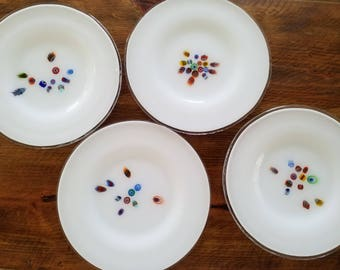 Murano Glass Plates with Millefiori Design Made Especially for Crate and Barrel