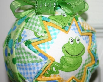 Froggy Fabric Quilted Ornament