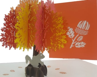 Autumn Oak Tree 3D pop up card