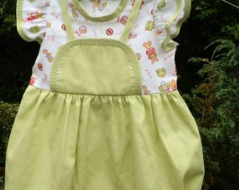 Green mouse romper