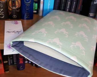 Personalized Light Blue Stag Book Sleeve Protector