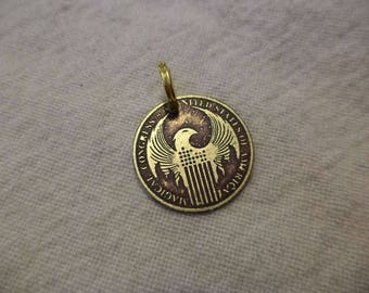 Magical Congress of the USA Etched Brass Charm