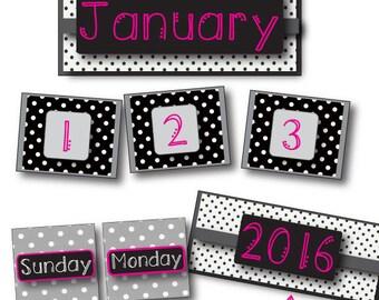 Hot Pink, Black & White Calendar Pack