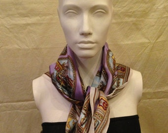 1960's Vintage Venice 100% Acetate Scarf - Perfect condition, never been used or washed
