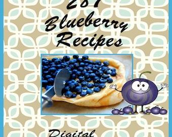 287 Blueberry Recipes E-Book Cookbook Digital Download