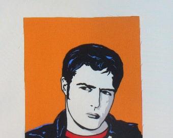 Hollywood Star, Marlon Brando Fabric, Marlon Brando, Andy Warhol Style, Marlon Brando Block, Home Dec Fabric, Art Deco style