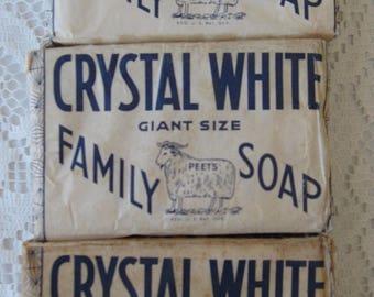 Vintage COLGATE-PALMOLIVE-PEET Co. Crystal White Giant Size Family Soap