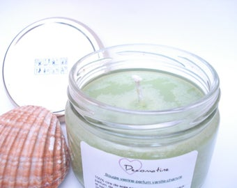 Candle jar hemp vanilla scent