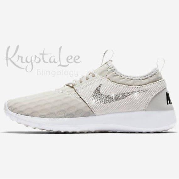Custom Luz Bling Mujeres Nike Juvenate Luz Custom Hueso Swarovski Blanco 082333