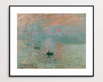 Impression, Sunrise by Claude Monet -  Monet Painting Reproduction - Monet Print - Monet Poster - Monet Wall Art - Monet Sunrise - Giclee