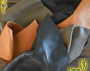Mixed brown color Leather Scrap