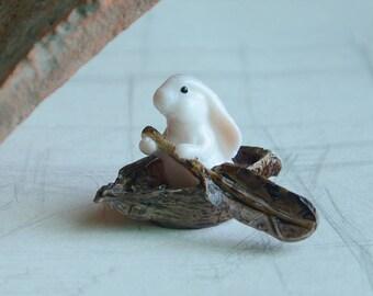 5*3.5*4.5cm Realistic Fairy Garden Resin Rabbit