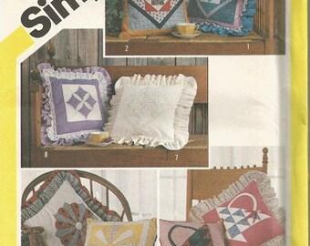 Vintage Simplicity Patchwork Pillow Pattern