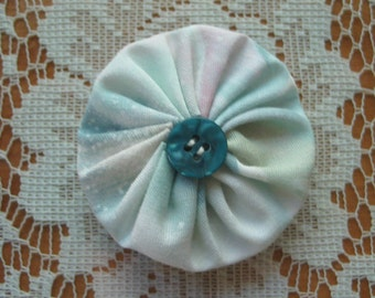 YoYo Hair Clip Free Shipping Pastel Colors Blue Button