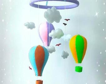 nursery crib mobile hot air balloon mobile baby mobile baby crib mobile felt mobile cloud mobile bird mobile girl mobile boy mobile