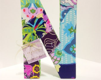 8 inch Spring Florals with Green Polka Dot Ribbon
