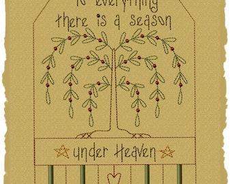 MACHINE EMBROIDERY-To Everything There Is A Season--7x11--Immediate Download