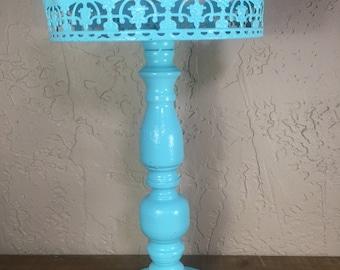 Robin's egg blue cupcake stand / Dessert Pedestal / Dessert Stand