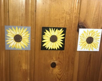 3 Piece Sunflower Canvas Set
