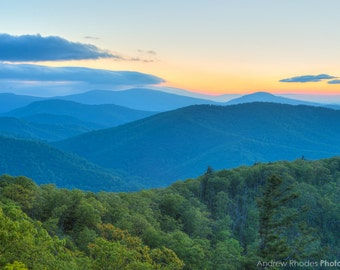 Blue Ridge Mountains Photography - Shenandoah National Park - Virginia Art, Landscape Photograph, Fine Art Print, Sunrise