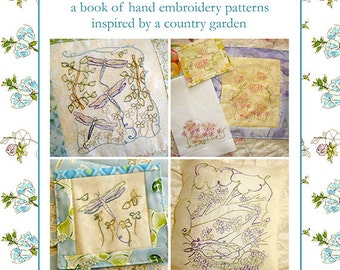 Hand Embroidery Pattern Book Birds Bees Flowers